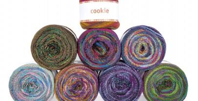 Viel Garn, viel Farbe, viel Spaß: Cookie.