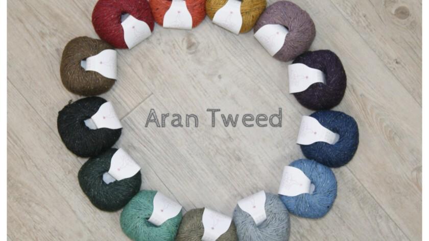 Neuheit aus reinen Naturfasern: Aran Tweed